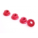 Spec-R Aluminum Lock Nut 4mm (RED)