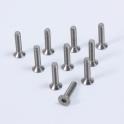 Tornillos 3x16mm de titanio avellanados