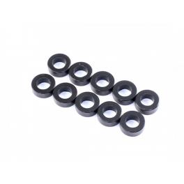 Radtec Espaciadores de Aluminio 3x5.5x0.5mm, Negro, 10 pcs