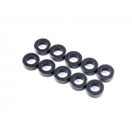Radtec Espaciadores de Aluminio 3x5.5x2.0mm, Negro, 10 pcs
