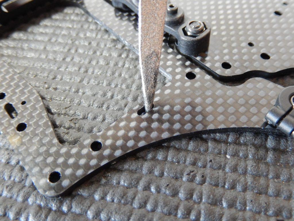Limado del cajeado donde debe entrar el teton de la bancada de aluminio