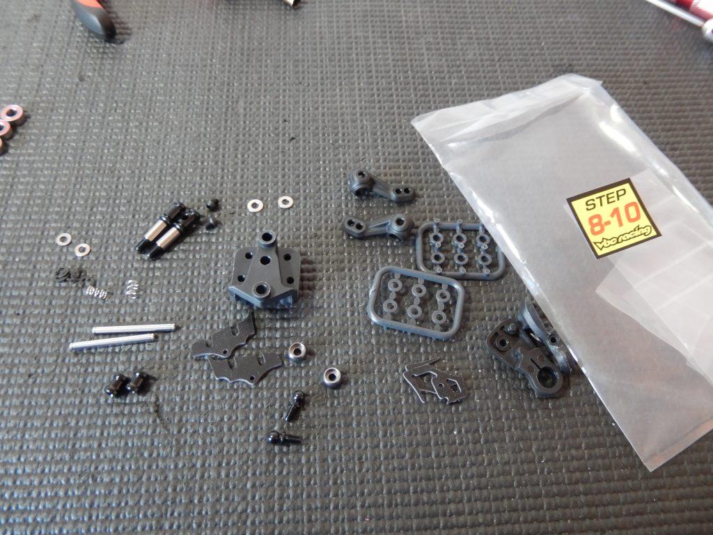 Componentes para montar en los pasos 8-10 del montaje del VBC LightningFXM