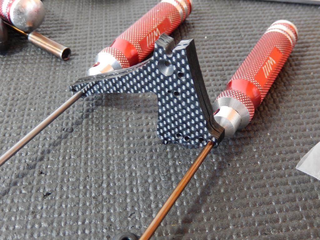 Trapecios de carbono insertados para comprobar sus dimensiones